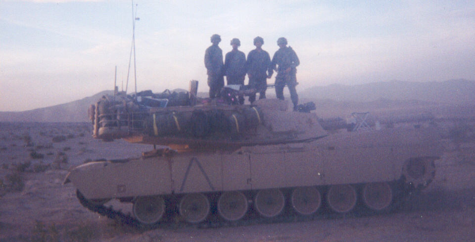 With My Tank Crew While Serving as a Tank Company Executive Officer